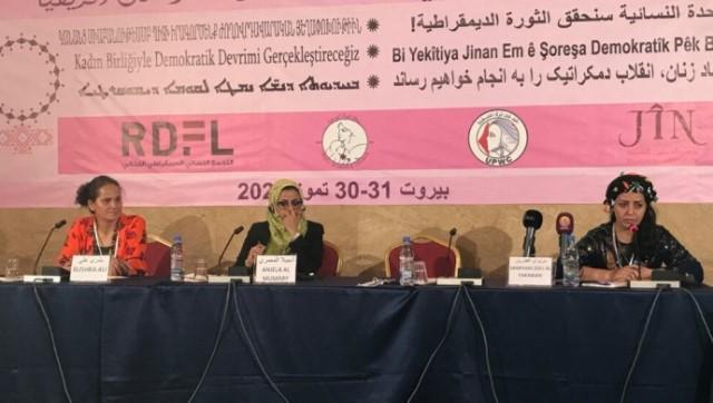 Photo of مؤتمر المرأة في بيروت يناقش تجربة نضال المرأة في روج آفا