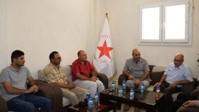Photo of وفد من حزب الوحدة يزور مكتب الـ PYD في إقليم الفرات