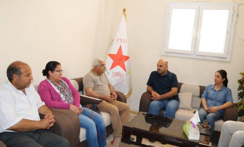 Photo of وفد من الديمقراطي الكردي السوري يزور مكتب الـ PYD بإقليم الفرات