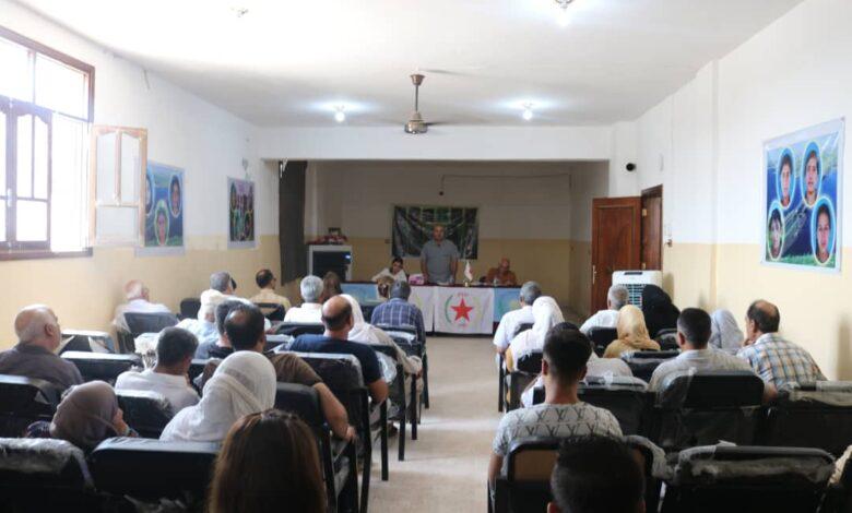 Photo of حزبنا يعقد اجتماعاً تنظيمياً في الرقة