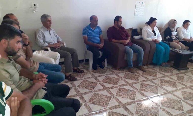 Photo of الاتحاد الديمقراطي PYD يعقد سلسلة من الاجتماعات التنظيمية في ناحية تربسبيه