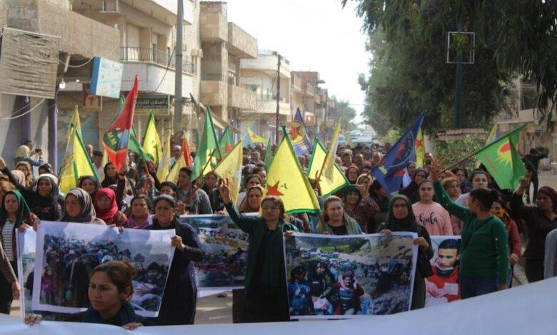 Photo of أهالي الدرباسية يستنكرون جرائم الاحتلال التركي ومرتزقته