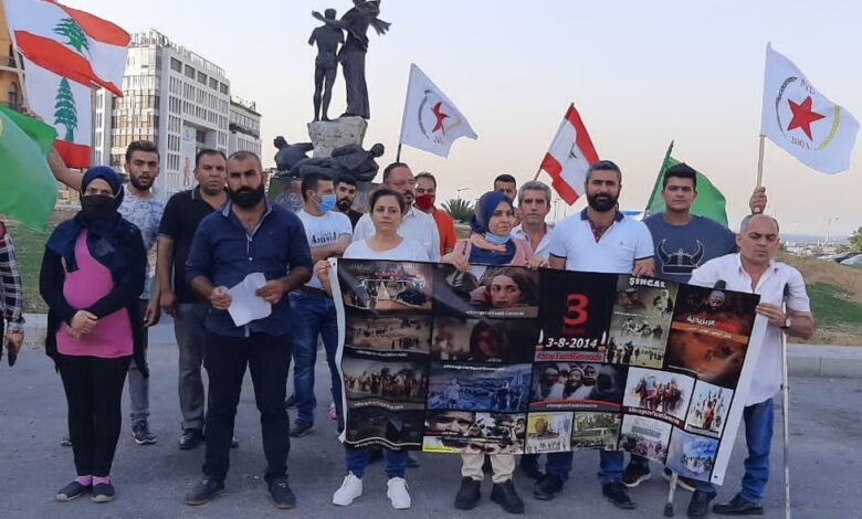 Photo of أعضاء الـ PYD في لبنان يستذكرون مجزرة شنكال