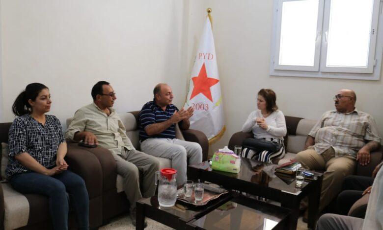 """Photo of وفد من """"البارتي"""" يزور مقر حزبنا في كوباني"""