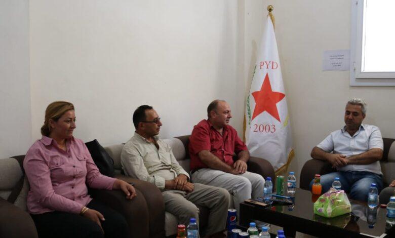 Photo of وفد من حزب السلام الديمقراطي يزور مكتب الـ PYD بإقليم الفرات