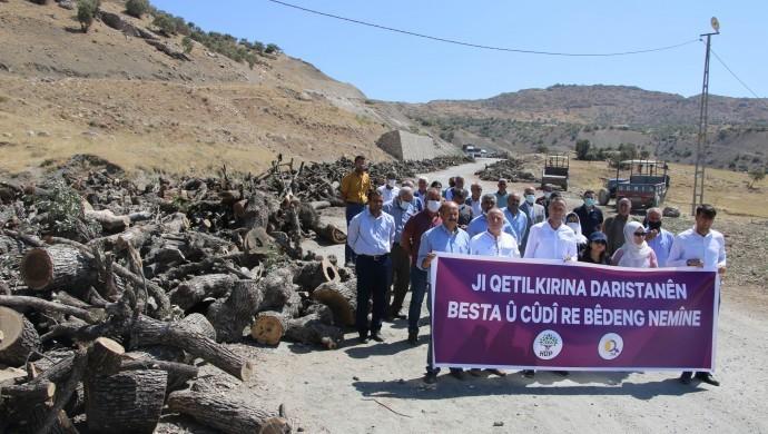 Photo of أعضاء HDP من شرناخ: حزب العدالة والتنمية يريد تدمير الكرد عبر تدمير طبيعة مناطقه