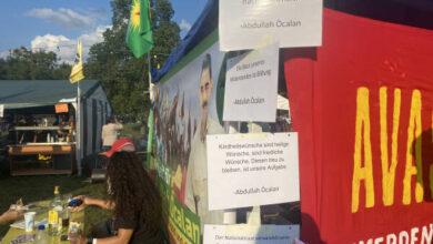Photo of ضمن فعاليات مهرجان فيينا الشعبي الشبيبة الكردستانية تقيم منصة  باسم القائد أوجلان
