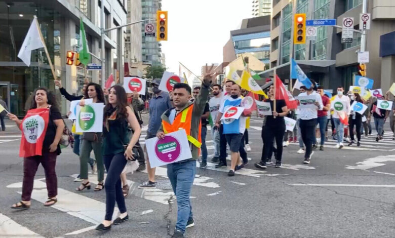 Photo of الكردستانيون في تورونتو الكندية يتضامنون مع الشعوب الديمقراطي