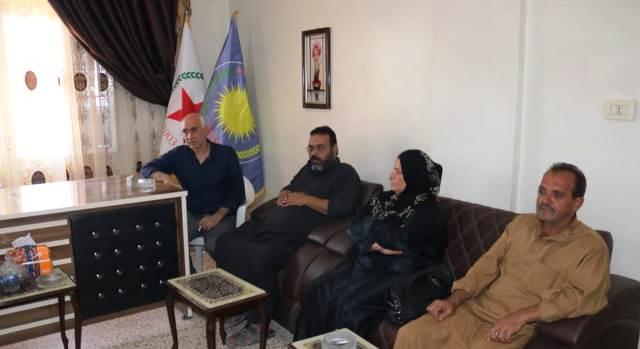 Photo of وفد من حزب التحالف الوطني الديمقراطي السوري يزور مكتب حزبنا في الرقة