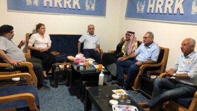 Photo of وفد من مكتب العلاقات لحزبنا يزور مركز اتحاد مثقفي روج آفاي كُردستانHRRK