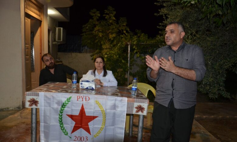 Photo of الـ PYD يعقد اجتماعاً جماهيرياً في السليمانية