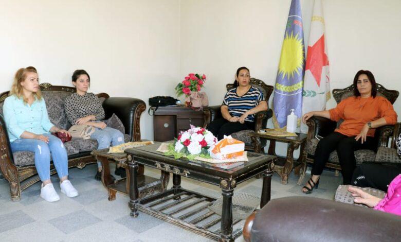 Photo of وفد من مجلس المرأة السورية يزور مكتب حزبنا في حلب