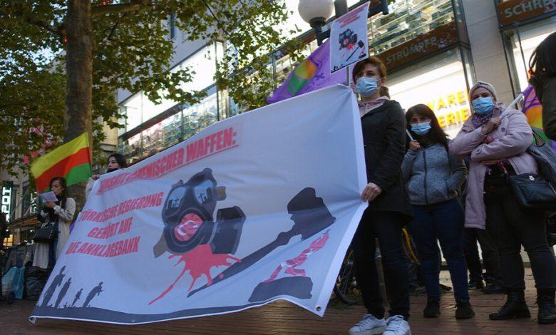 Photo of احتجاجات في مدن ألمانية ضد استخدام تركيا للأسلحة الكيماوية بجنوب كردستان