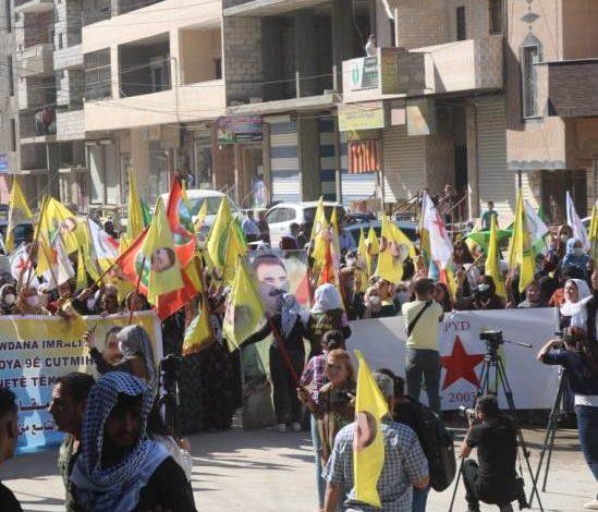 Photo of بمشاركة حزبنا, مظاهرة حاشدة في الحسكة